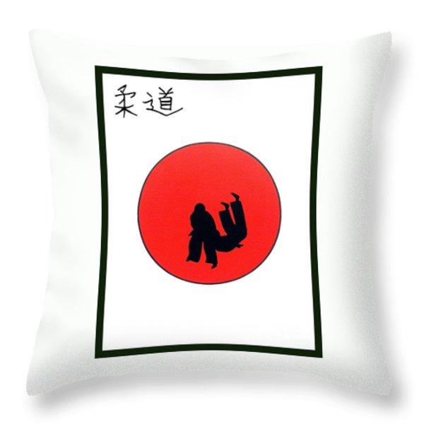Art Of Judo Print Throw Pillow by Gordon Lavender