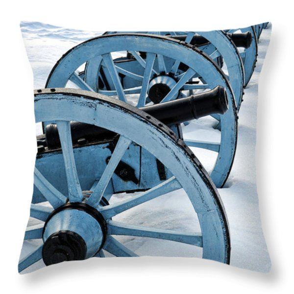 Artillery Throw Pillow by Olivier Le Queinec