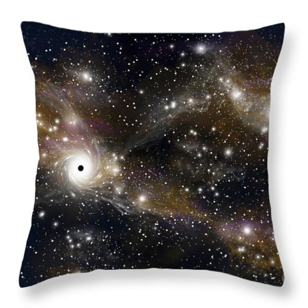 Artists Concept Of A Black Hole Throw Pillow by Marc Ward