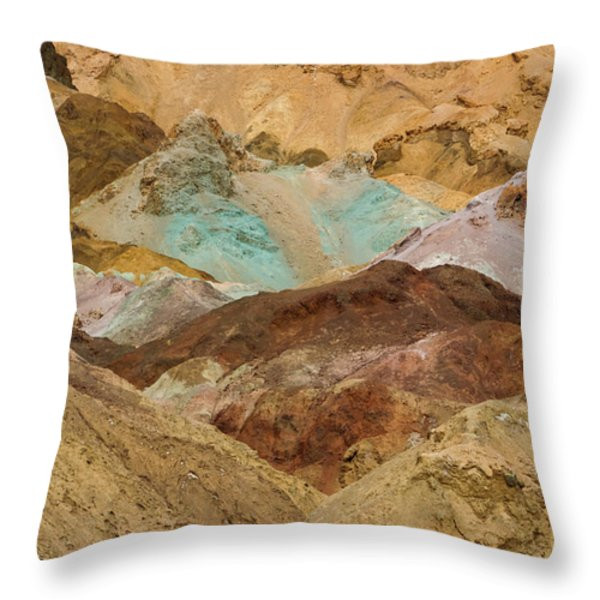 Artist's Paint Palette Abstract Throw Pillow by Heidi Smith