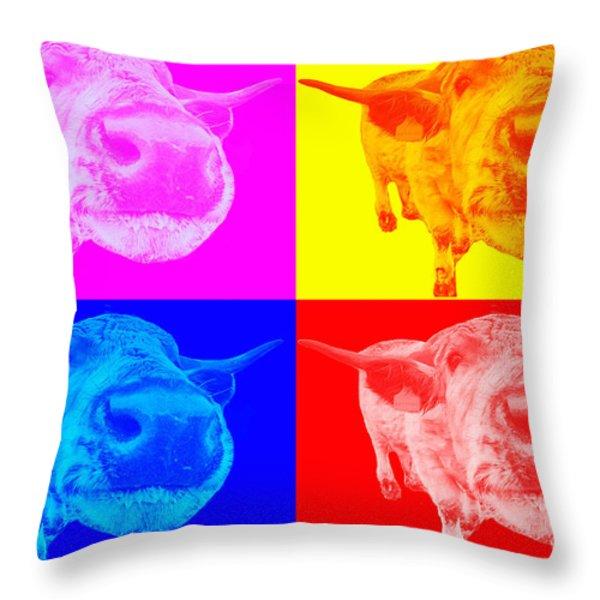 Arty Coo Throw Pillow by John Farnan