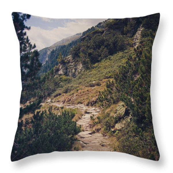 As Far As My Feet Will Carry Me Throw Pillow by Thomas Richter