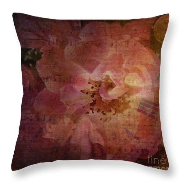 As Time Goes By Throw Pillow by Lianne Schneider