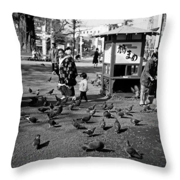 Asakusa Street Scene Throw Pillow by The  Vault - Jennifer Rondinelli Reilly