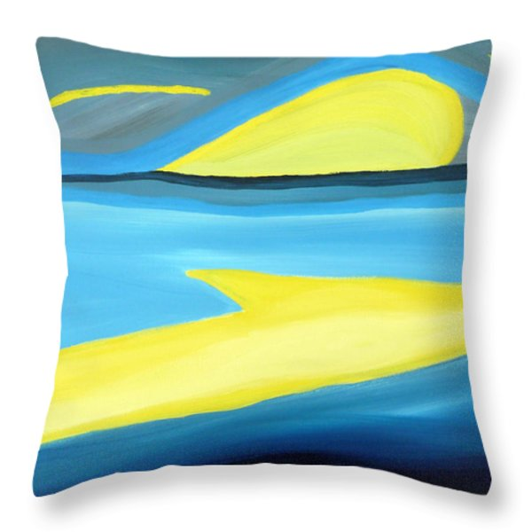 Ascending Light Into The New Dawn Of Time Throw Pillow by Daina White