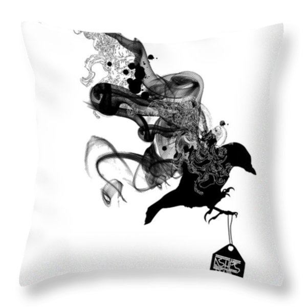 Ashes to Ashes Throw Pillow by Budi Satria Kwan