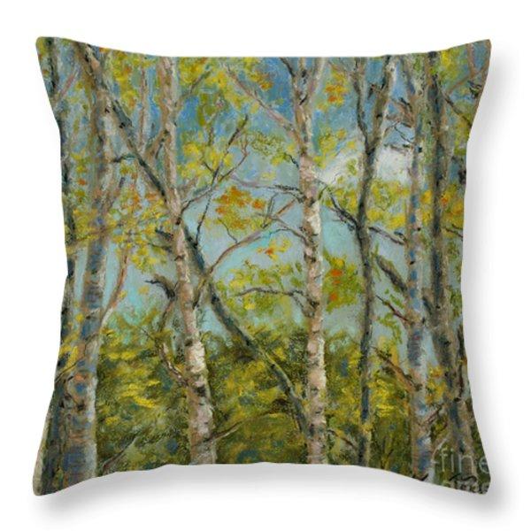 Aspen Glow Throw Pillow by Mary Benke