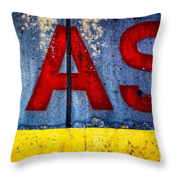 ASS Throw Pillow by Bob Orsillo