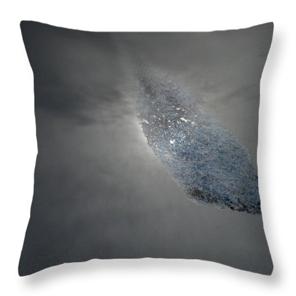 Asteroid Throw Pillow by Skip Willits
