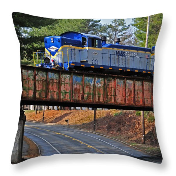 At Gibb's Crossing Throw Pillow by Mike Martin