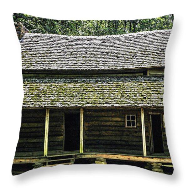 At Home in the Woods Throw Pillow by Barry Jones