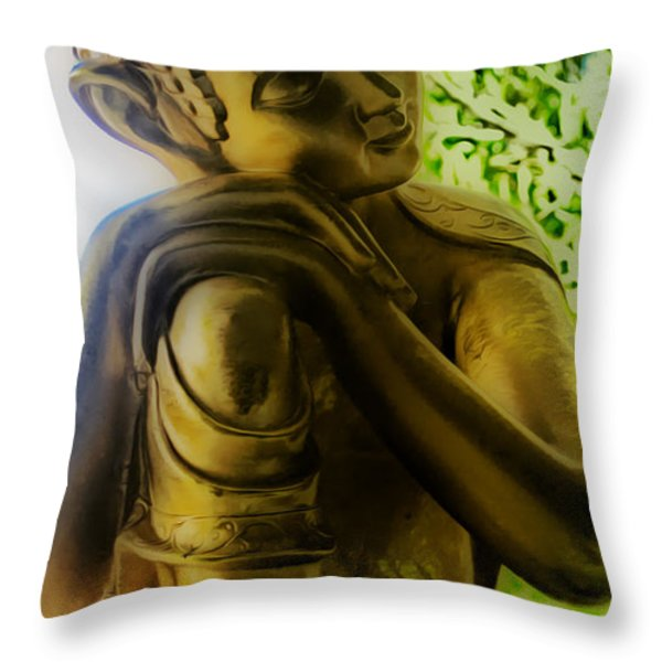 At Peace Throw Pillow by Cheryl Young