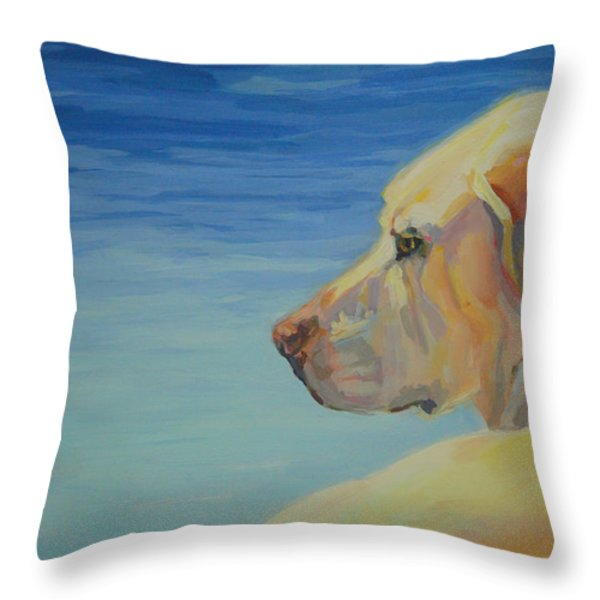 At Peace Throw Pillow by Kimberly Santini