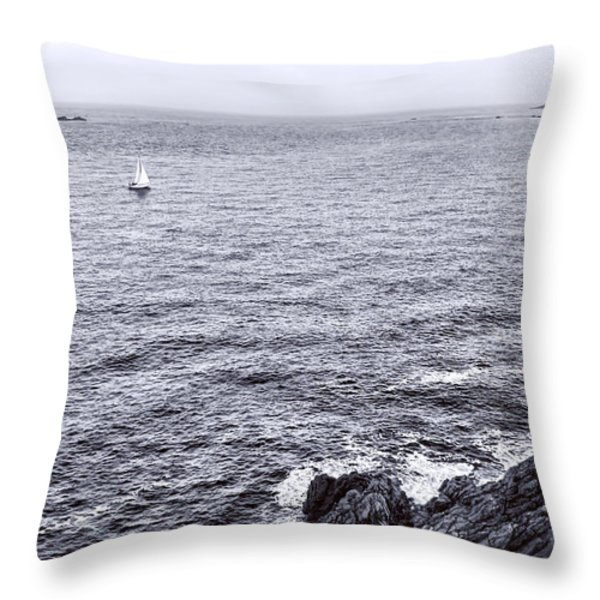 At Sea Throw Pillow by Olivier Le Queinec