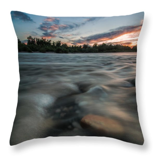 At The End Of The Day Throw Pillow by Davorin Mance