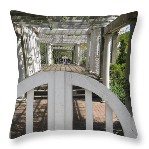 At The Garden Gate Throw Pillow by Melissa McCrann