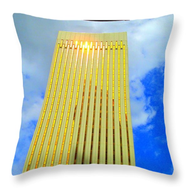 At The Mint Throw Pillow by Randall Weidner