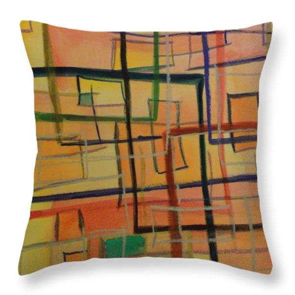 At The Office Throw Pillow by Karen Butscha