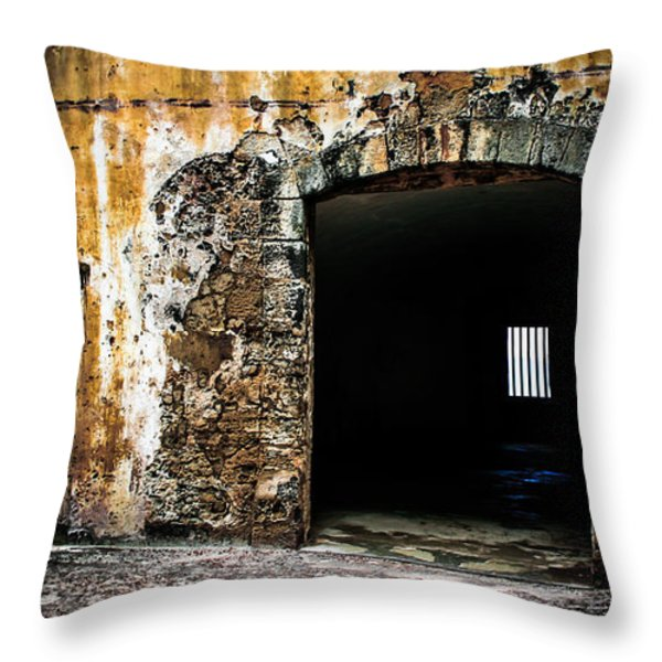 At The Old Fort Throw Pillow by Perry Webster