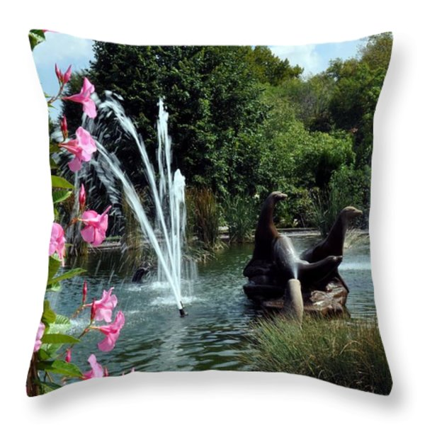 At the Zoo Throw Pillow by Marty Koch