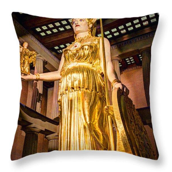 Athena Throw Pillow by Bob Hislop