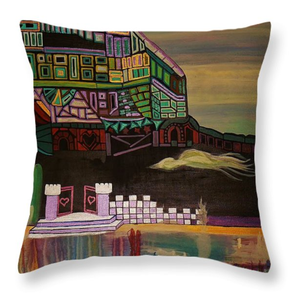 Atlantis Throw Pillow by Barbara St Jean
