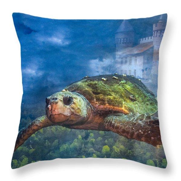 Atlantis Throw Pillow by Debra and Dave Vanderlaan