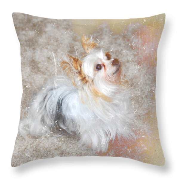 Attentive Throw Pillow by Mary Timman