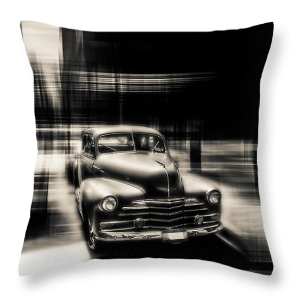 attracting curves III gray Throw Pillow by Hannes Cmarits