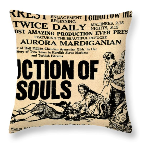 Auction Of Souls Throw Pillow by Digital Reproductions