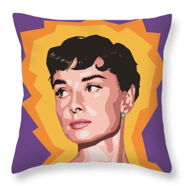 Audrey Throw Pillow by Douglas Simonson