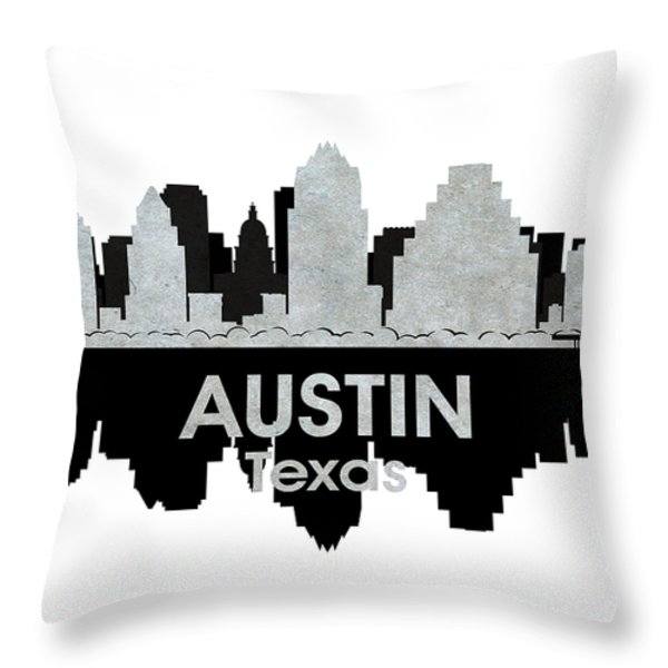Austin Tx 4 Throw Pillow by Angelina Vick