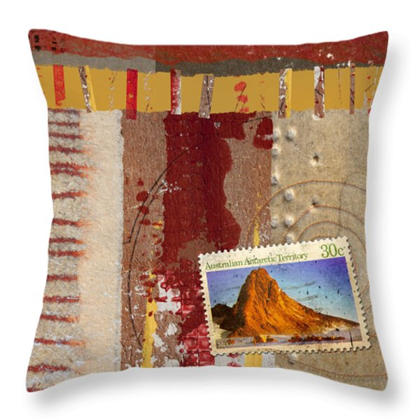 Australia Antarctic Territory Throw Pillow by Carol Leigh