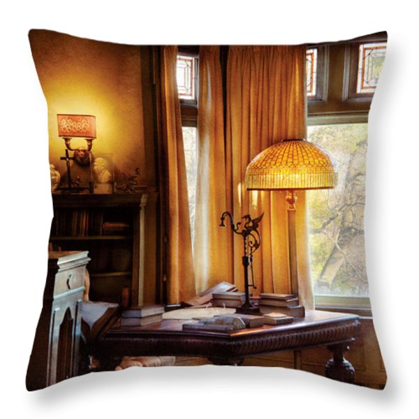 Author -  Style And Class Throw Pillow by Mike Savad