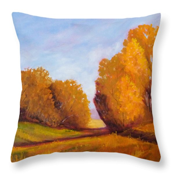 Autumn Afternoon Throw Pillow by Nancy Merkle