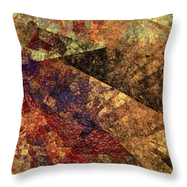 Autumn Bend Throw Pillow by Andee Design