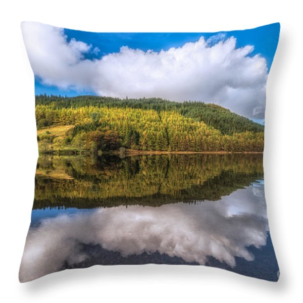 Autumn Clouds Throw Pillow by Adrian Evans