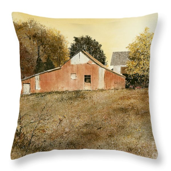 Autumn Glow Throw Pillow by Monte Toon
