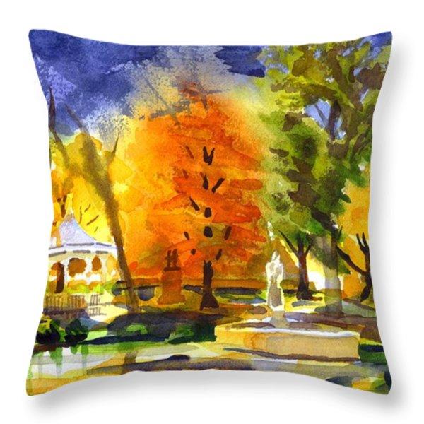 Autumn Gold 2 Throw Pillow by Kip DeVore