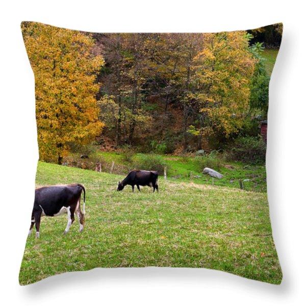 Autumn Graze Throw Pillow by Bill  Wakeley