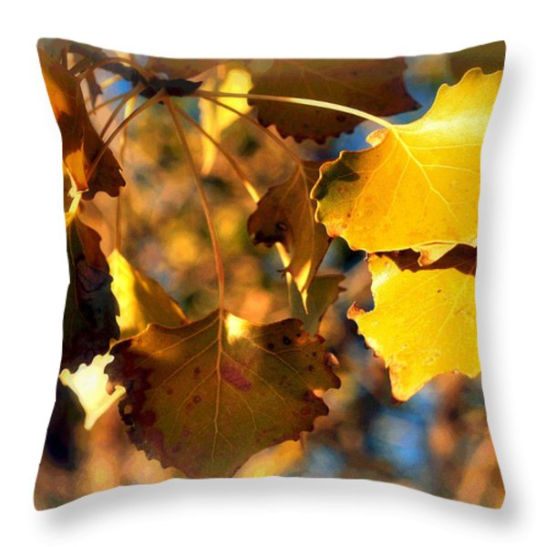 Autumn Hearts Throw Pillow by Lisa Holland-Gillem