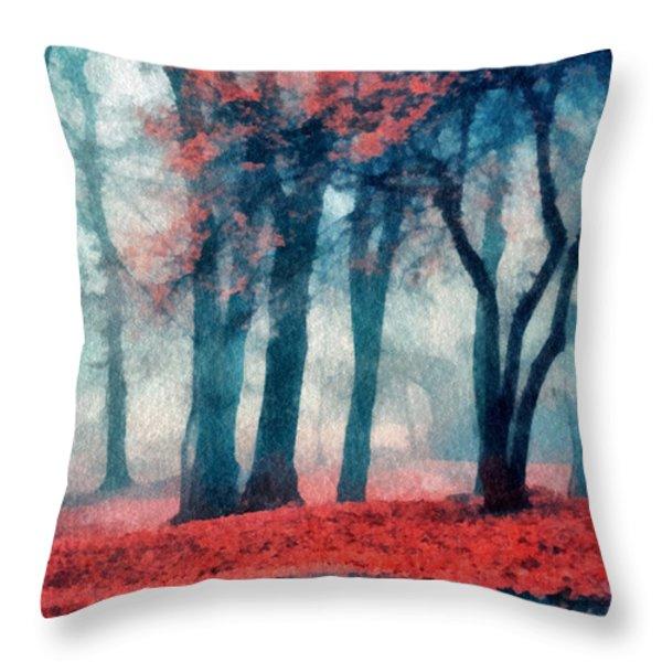 Autumn In The City Throw Pillow by Marina Likholat