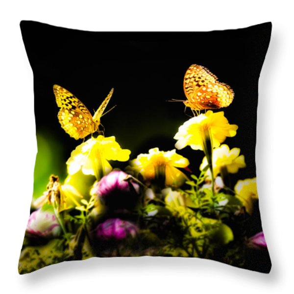 Autumn is when we first met Throw Pillow by Bob Orsillo