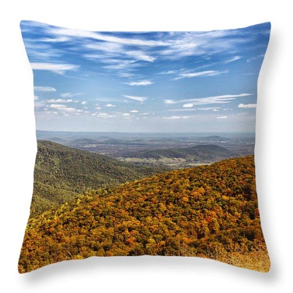 Autumn Layers Throw Pillow by Kim Hojnacki