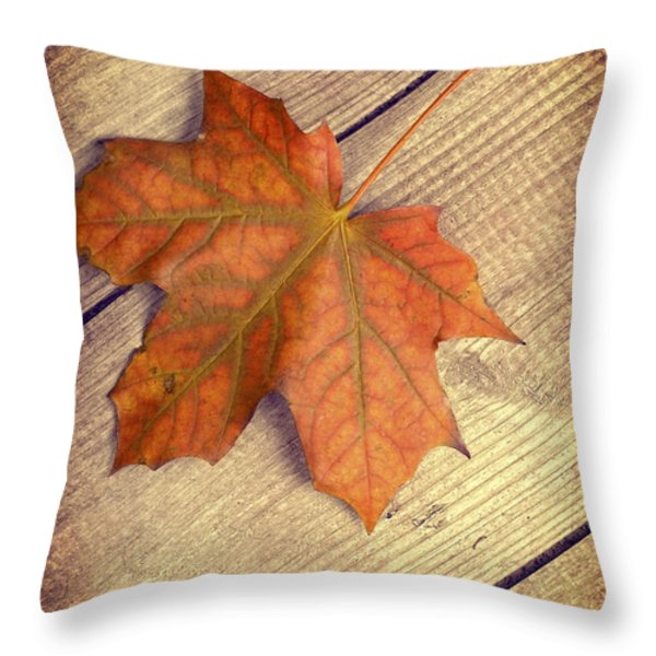 Autumn Leaf Throw Pillow by Amanda And Christopher Elwell