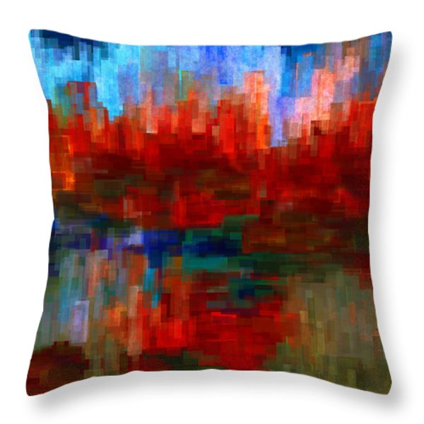 Autumn Leaves Throw Pillow by Jack Zulli