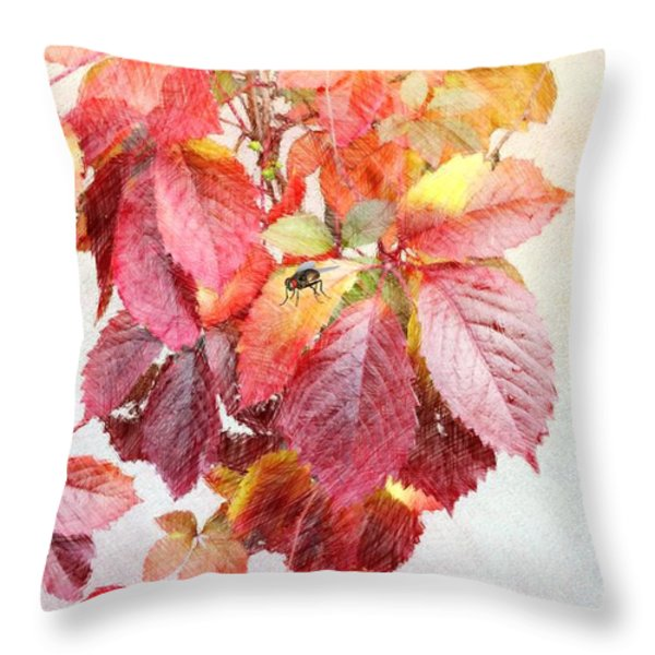 Autumn Leaves Throw Pillow by Liane Wright