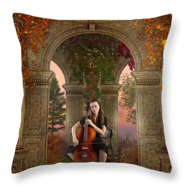 Autumn Melody Throw Pillow by Bedros Awak