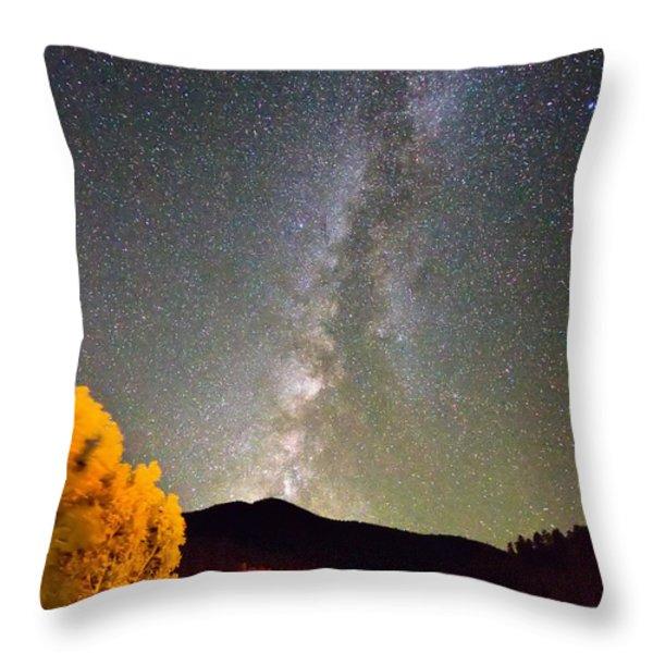 Autumn Milky Way Night Sky  Throw Pillow by James BO  Insogna