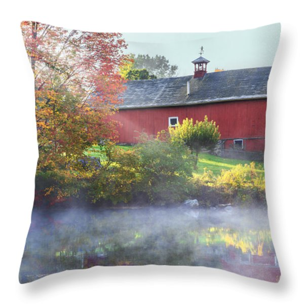 Autumn Morn Throw Pillow by Bill  Wakeley